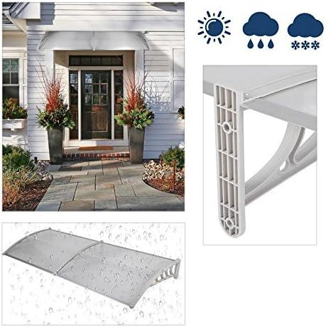 Homgrace - Marquesina para puerta-balcón - Para exteriores - Cobertura de policarbonato: Amazon.es: Bricolaje y herramientas