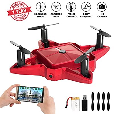 Mini Drone Drones with Camera Live Video Foldable Pocket Nano RC Drones Quadcopter FPV Chargeable Selfie Drone for Beginners 2.4GHz Altitude Hold One Key Start from YILE