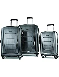 Winfield 2 3PC Hardside (20/24/28) Luggage Set, Charcoal