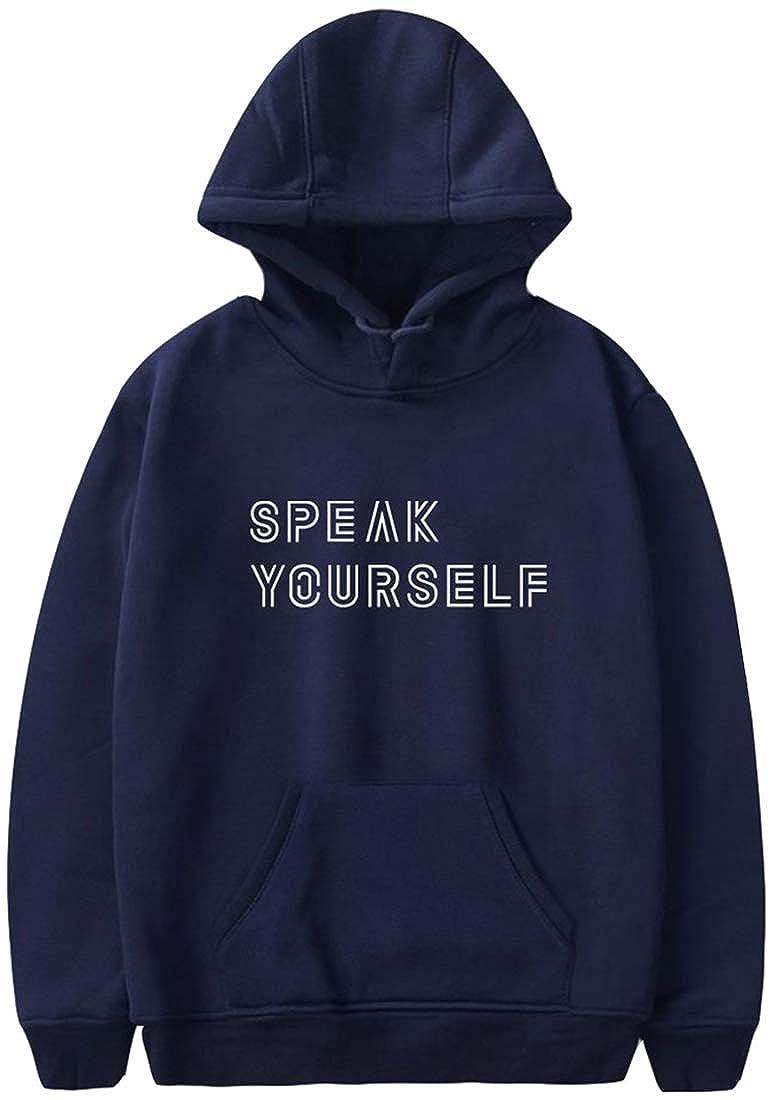 Imilan Unisex Mens Hoodie BTS Speak Yourself Printed Pullover Hooded Sweatshirt Inspired by Bangtan Boy