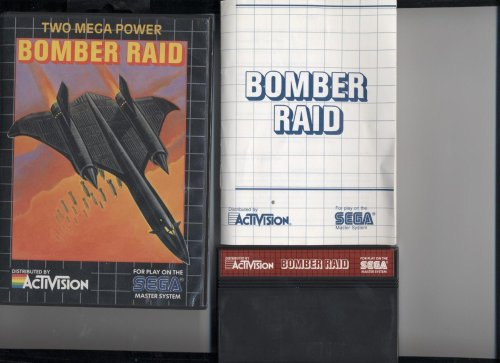 BOMBER RAID (FOR SEGA MASTER SYSTEM, COMPLETE WHOLE SET, COMES WITH ORIGINAL BOX, ORIGINAL INSTRUCTIONS, AND VIDEO GAME, COMPLETE SET, VERY RARE) (BOMBER RAID (FOR SEGA MASTER SYSTEM, COMPLETE WHOLE SET, COMES WITH ORIGINAL BOX, ORIGINAL INSTRUCTIONS, AND VIDEO GAME, COMPLETE SET, VERY RARE), BOMBER RAID (FOR SEGA MASTER SYSTEM, COMPLETE WHOLE SET, COMES WITH ORIGINAL BOX, ORIGINAL INSTRUCTIONS, AND VIDEO GAME, COMPLETE SET, VERY RARE))