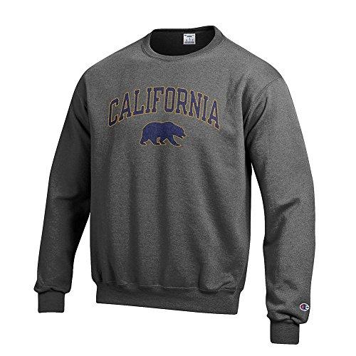 Elite Fan Shop California Golden Bears Crewneck Sweatshirt Varsity Charcoal - XXL