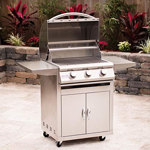 Blaze 25-inch Grill (BLZ-3-LP-BLZ-3-CART), Freestanding, Propane Gas