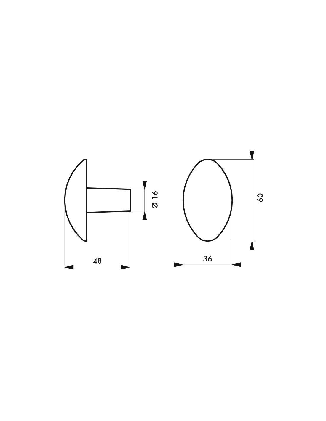 fen/être Thirard Bouton double fonte peinte carr/é 6 mm pour porte portail