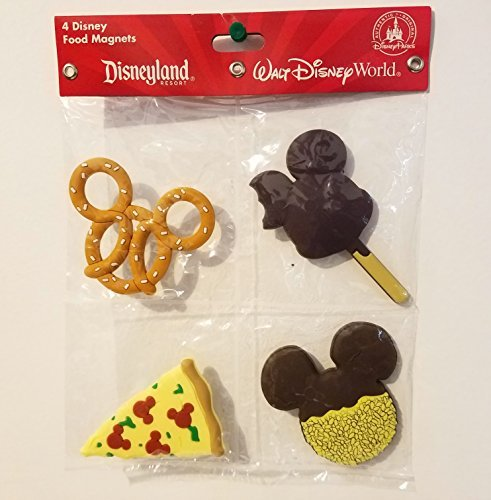 Disney Parks 4 Disney Food Magnets Pizza, Mickey Ice-Cream, Cookie, & (Disney Magnets)