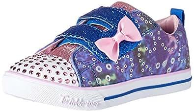 Skechers Australia Sparkle LITE - Rainbow Cuties Girls Training Shoe, Blue/Multi, 5 US