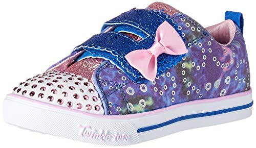 Skechers Kids Girls' Sparkle LITE-Rainbow Cuties Sneaker, Blue/Multi, 8 Medium US Toddler