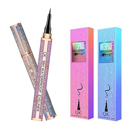 Liquid Eyeliner,Waterproof Eyeliner Pencil,Long Lasting Liquid Eye Liner Pen, Slim Black 2 Packs