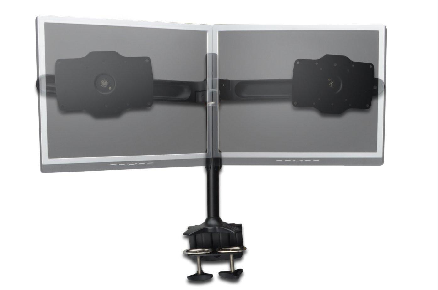 DIGITUS DIGITUS DIGITUS Dual-Monitor Halter mit Tischlemmung   Klemmbefestigung für 24