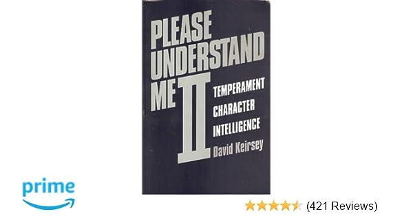 Amazon com: Please Understand Me II: Temperament, Character