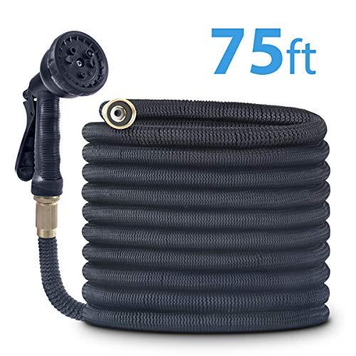 CACAGOO Garden Hose, 75 FT Lightweight Water Hose, 3/4