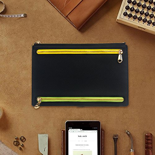 Ticket Travel Wallet & Money Clip,Volin Crik Black PU Leather Multi Zip Pockets Wallet Traveling Accessories by Volin Crik (Image #5)
