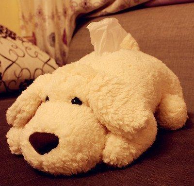 CINRA Super plush dog tissue box handkerchief case cartoo...