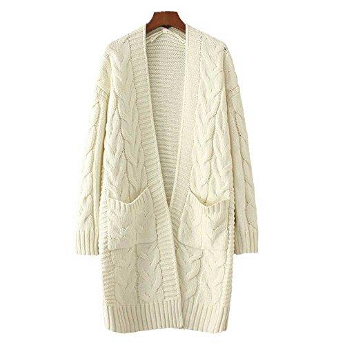 Cream Cardigan Sweater - 6