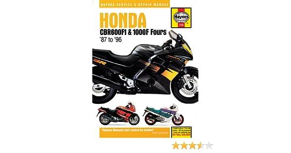Amazon.com: 87-96 HONDA CBR1000F: Haynes Repair Manual: Haynes ... on