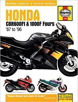 Book Honda CBR600F1 and 1000F Fours Service and Repair Manual (Haynes Service and Repair Manuals)