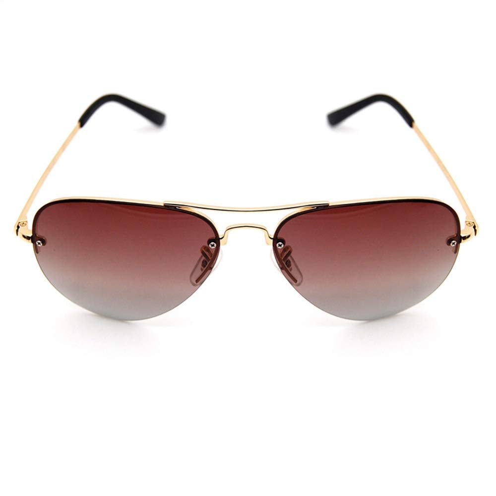 Driving Sunglasses YUKILO Mens Polarized Pliot Sunglasses Color : Brown