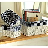 GreenSun(TM) handmade willow baskets Home Organization rattan Storage basket for Books Cosmetic toys Sundries Crafts Decorative small large