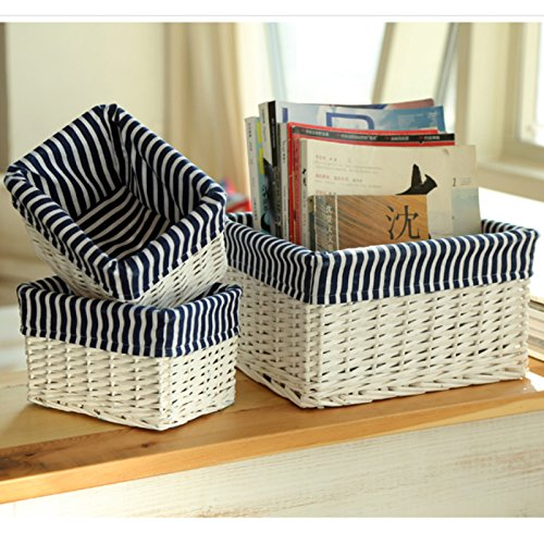 GreenSun(TM) handmade willow baskets Home Organization rattan Storage basket for Books Cosmetic toys Sundries Crafts Decorative small large by GreenSun