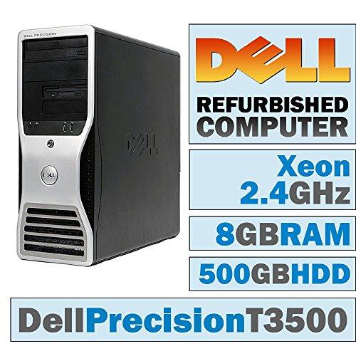 Dell Precision T3500 MT/Xeon W3503 @ 2 40 GHz/8GB DDR3/500GB HDD/DVD-RW/No  OS