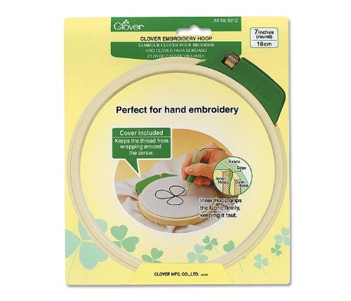 Clover Embroidery Hoop (7 Inch Embroidery Stitching Tool Hoop)