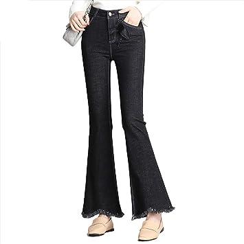 SFSF Jeans de Mujer Ajustado Jeans elásticos Cuerno Micro ...