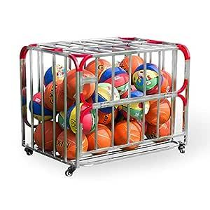 Rack de Almacenamiento Deportivo para Baloncesto Carrito con ...