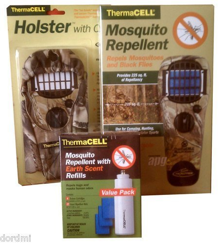 Earth Scent Value Pack - Thermacell Mosquito Repellent Kit: Camo Appliance APG+Realtree Holster+Earht Scent Refill Value Pack
