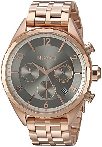 Nixon Women's 'Minx Chrono' Quartz Stainless Steel Automatic Watch, Color:Rose Gold-Toned (Model: A9932046-00)