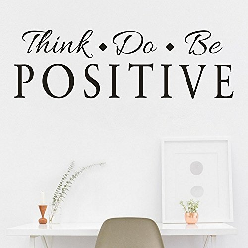Cheap  LIKESIDE Think Positive Removable Art Vinyl Mural Home Room Decor Wall Stickers