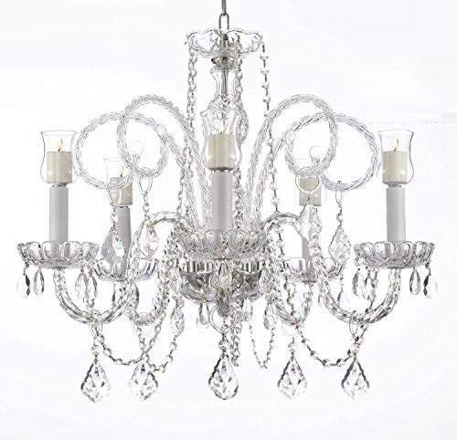 los angeles dedf5 9044f Crystal Chandelier Lighting Chandeliers W/Candle Votives H25