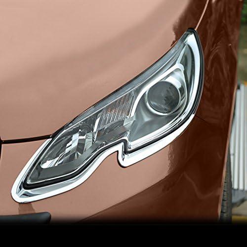 ABS Chrome avant Head Light Lampe Coque Trim 2/pcs