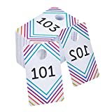 (US) Frienda 100 Pieces Live Sale Number Tags Plastic with Normal and Reversed Mirrored Numbers 100 Consecutive Numbers (101 - 200)
