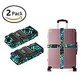 YEAHSPACE 2-Pc Spiral Tie Dye Mandala Luggage Strap Suitcase Belts TSA Approved Lock