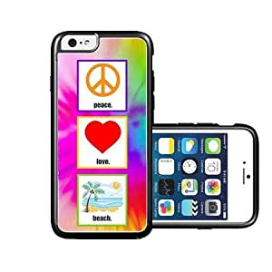 RCGrafix Brand Peace Love Beach iPhone 6 Case - Fits NEW Apple iPhone 6