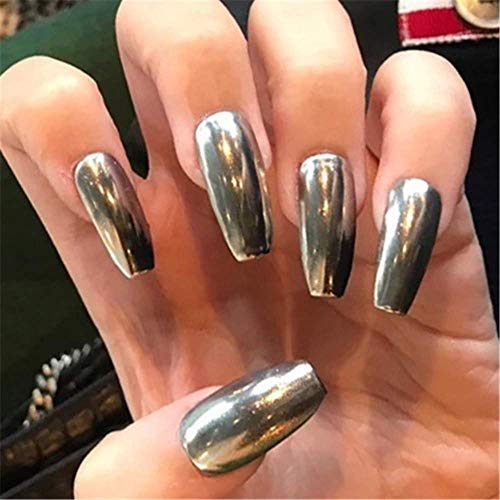 MISUD Colorful Press on Coffin Fake Nails Full