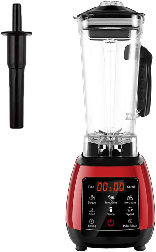 TJQTJQ Digital Touchpad Blenders, 2L Automatic Professional Mixer Juicer High Power 45000RPM Food Processor Ice Smoothies Maker Fruit Juicer,Red