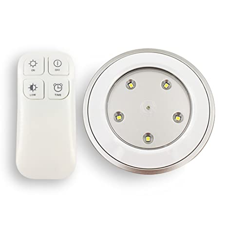 E elelife tap lights wireless remote control puck light dimmable e elelife tap lights wireless remote control puck light dimmable lamp with touch activated aloadofball Image collections