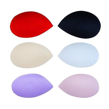 6 pares de almohadillas para sujetador con forma de gota de agua de 10 cm,