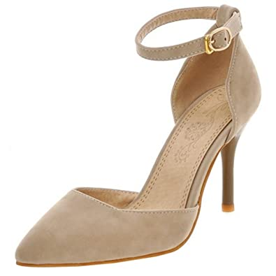 Zanpa Damen Moda Spitze Absatz Sandalen D Orsay Party Shoes Red Size 33 IfbPV3kK