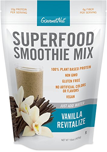 Gourmet Nut Superfood Smoothie Mix, Vanilla Revitalize, 15 Ounce (Super Nut)