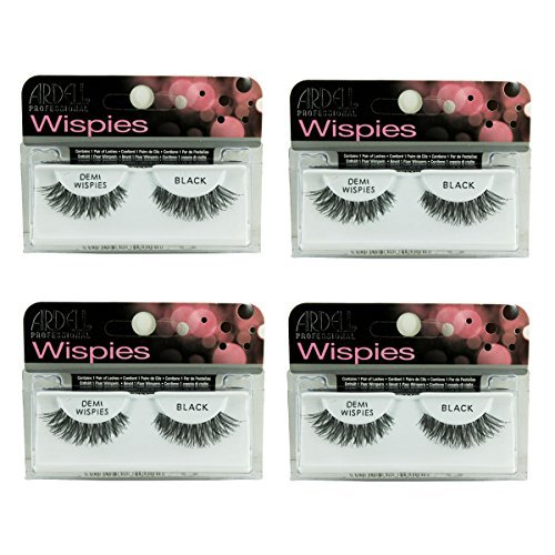 Ardell Natural Lashes, Demi Wispies Black, 4-Count
