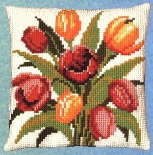 Tulipanes cojín Punto de Cruz Kit: Amazon.es: Hogar