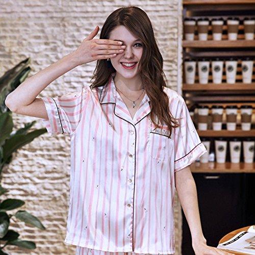 Andre Juego De Domicilio Pantalones Nuevos Verano L Corta Piezas A Servicio Seda Dos Manga size Pijamas Cortos Home Simulación Mujer rE1qZrB