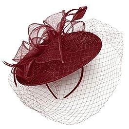 Caprilite Saucer Sinamay Headband Fascinator Wedding Ascot Hat Hatinator Birdcage Veil