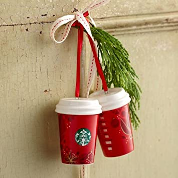 Amazon.com: Starbucks 2013 Red Cup Ornament (ONE): Home & Kitchen