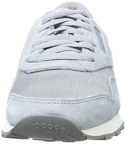 Reebok Herren Classic Nylon Tech Sneaker Grau (Meteor Grey/Asteroid/White)