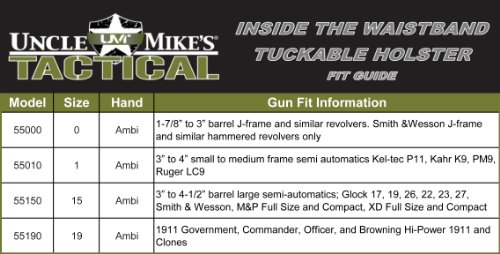 Amazon com uncle mike s tactical inside the waistband tuckable