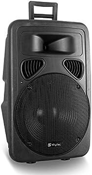Altavoz PA Skytec DJ 15 Pulgadas 600 W Ruedas ABS