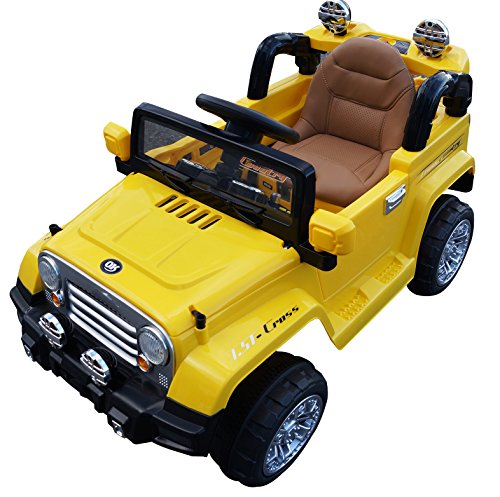 Electric Toy Cars For Boys : Jeep style premium ride on electric toy car for kids jj